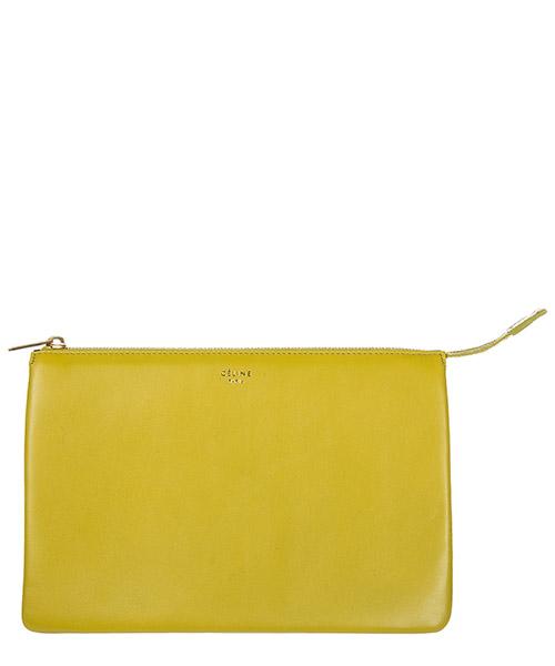 Clutch bags Céline 102253VAA 29HA chartreuse
