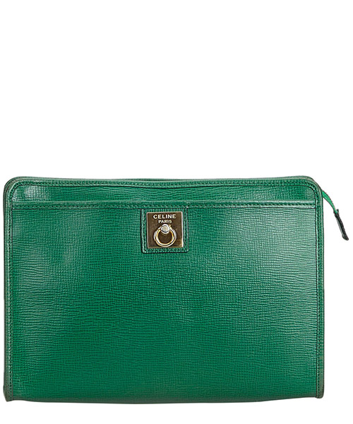 Clutch Celine Pre-Owned 9ccecl003 verde