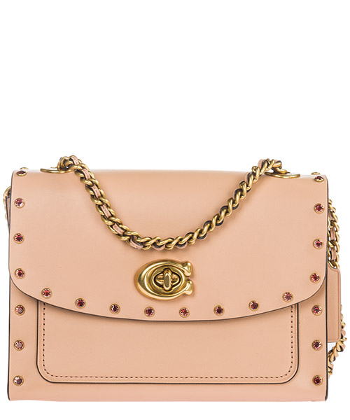 Crossbody bag Coach Parker 18 35566B4A55 nude pink