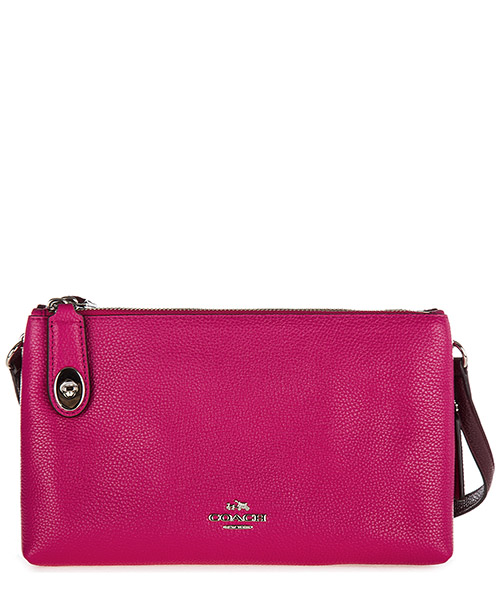 Crossbody bag Coach 38324 burgundy cerise