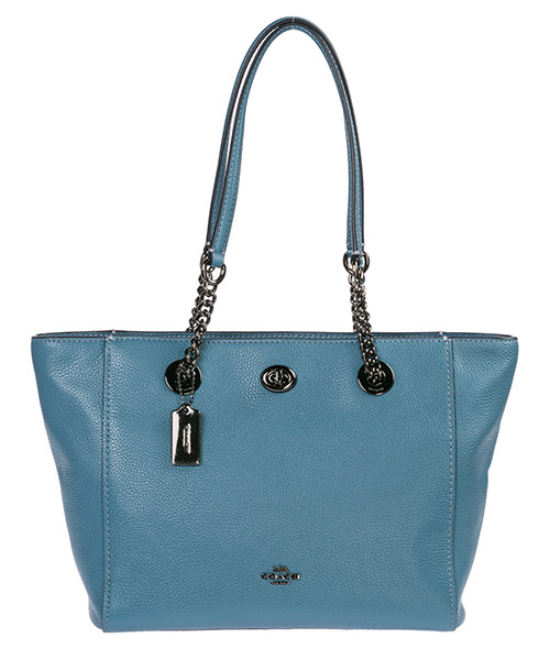 Shoulder bag Coach 57107 azzurro