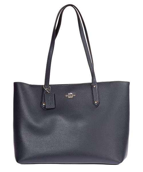 Shoulder bag Coach Central 69424 SVBHP blu marina notte / argento