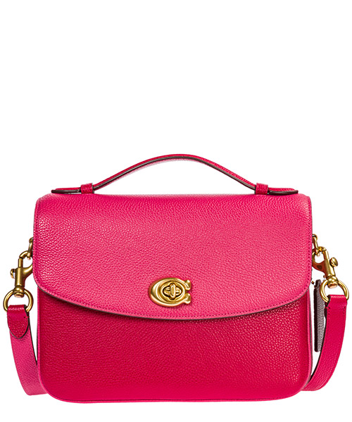 Women's leather cross-body messenger shoulder bag cassie