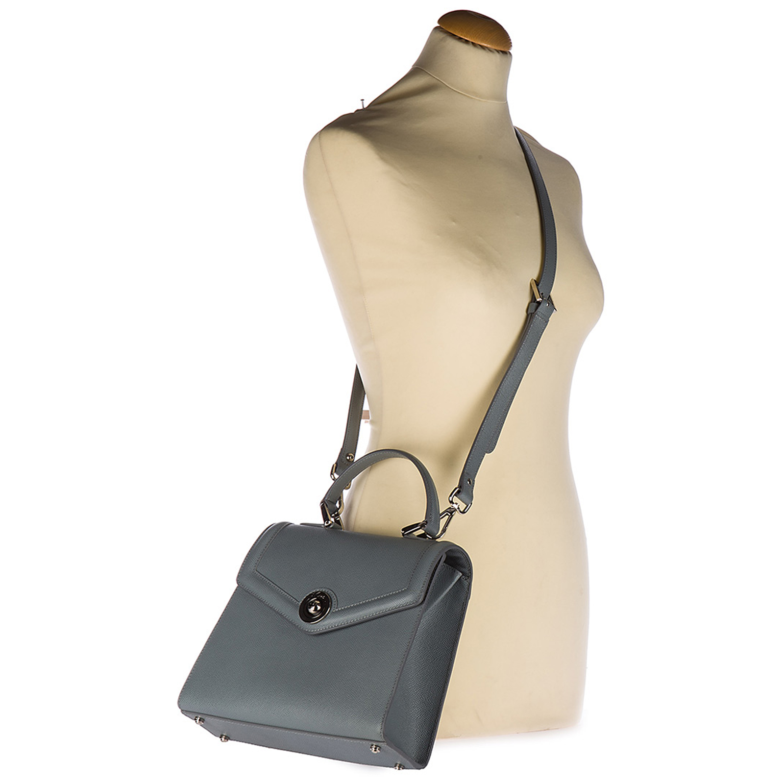 Women's leather handbag shopping bag purse monaco