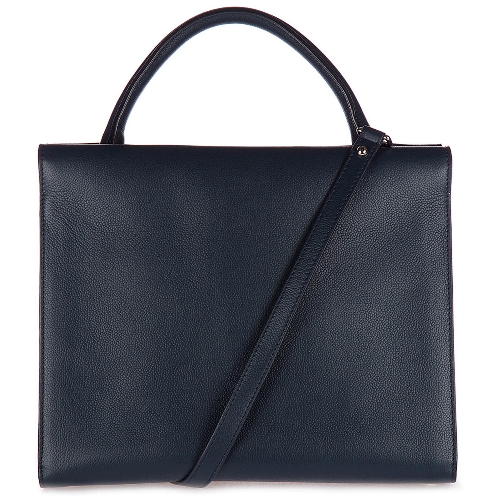 Women's leather handbag shopping bag purse paris