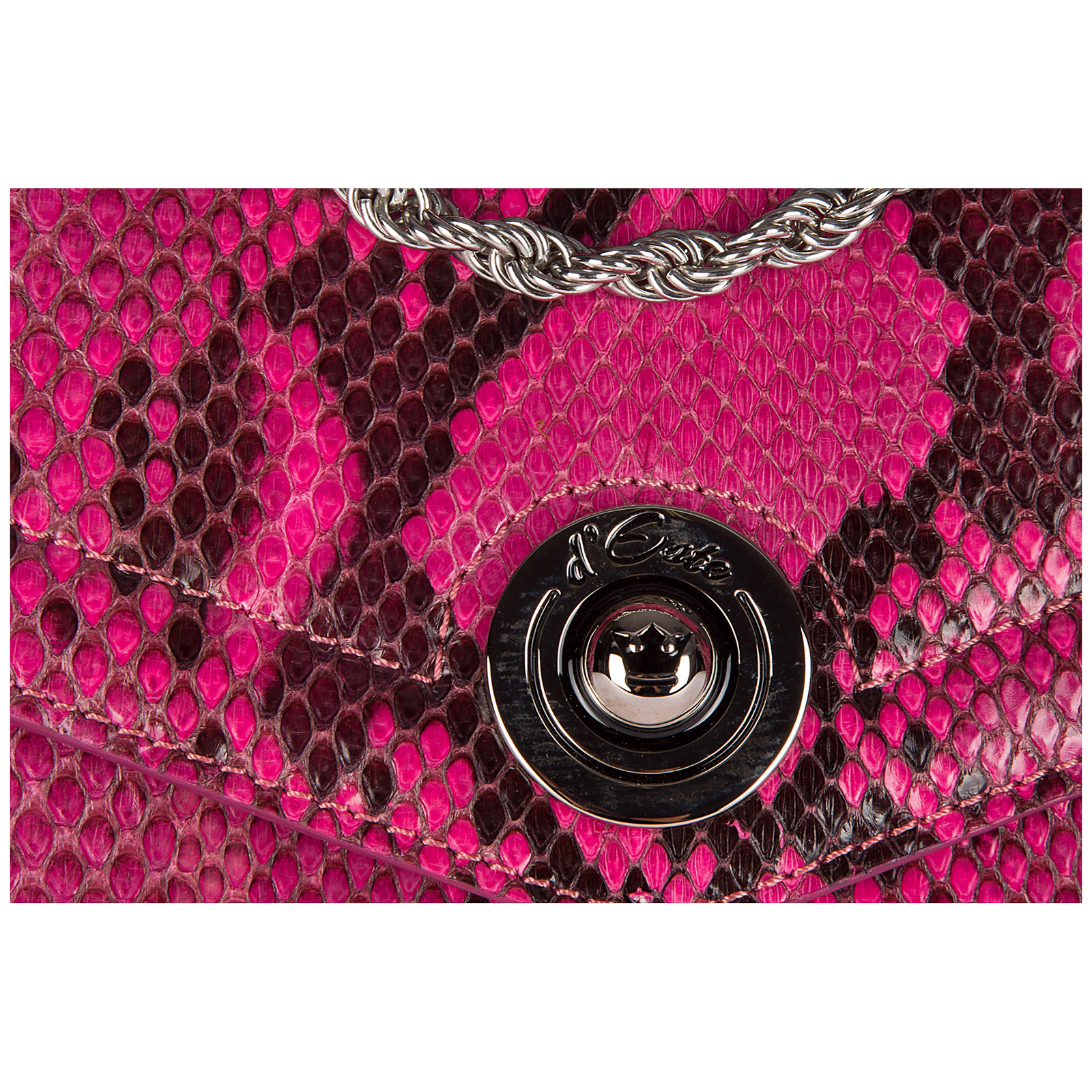 Women's clutch with shoulder strap handbag bag purse  pitone