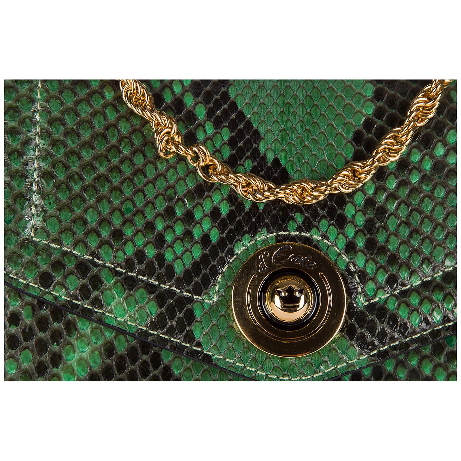 Bolso de mano pochette mujer con bandolera  pitone