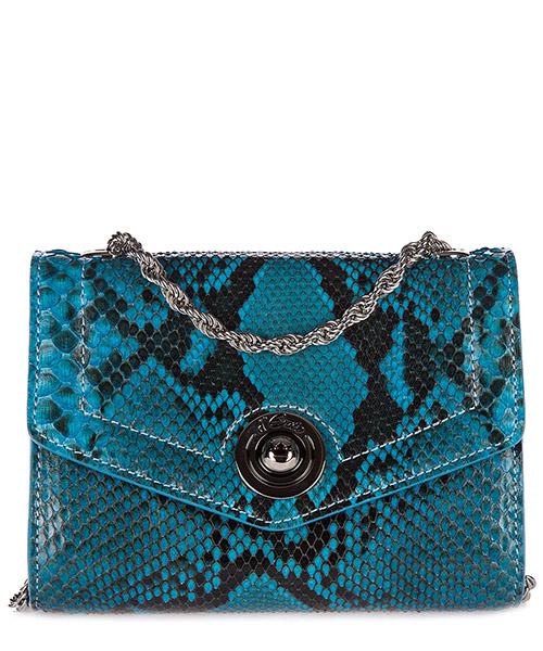 Clutch bag d'Este PITONE blu