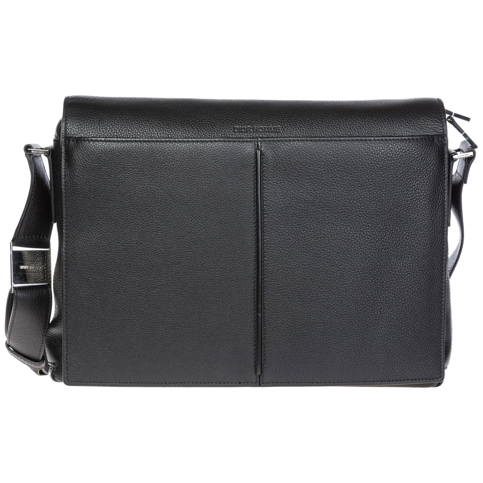 Dior Men S Leather Cross-Body Messenger Shoulder Bag In Black. SIZE   FIT  INFORMATION 07fe1054c70fe