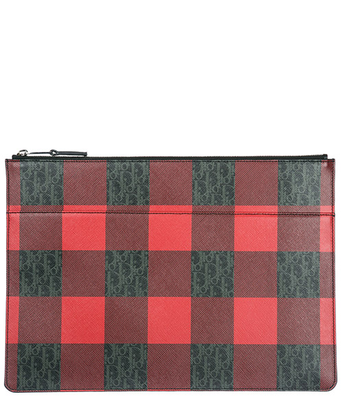 Document holder Dior 2DECA054XIW gris / rouge