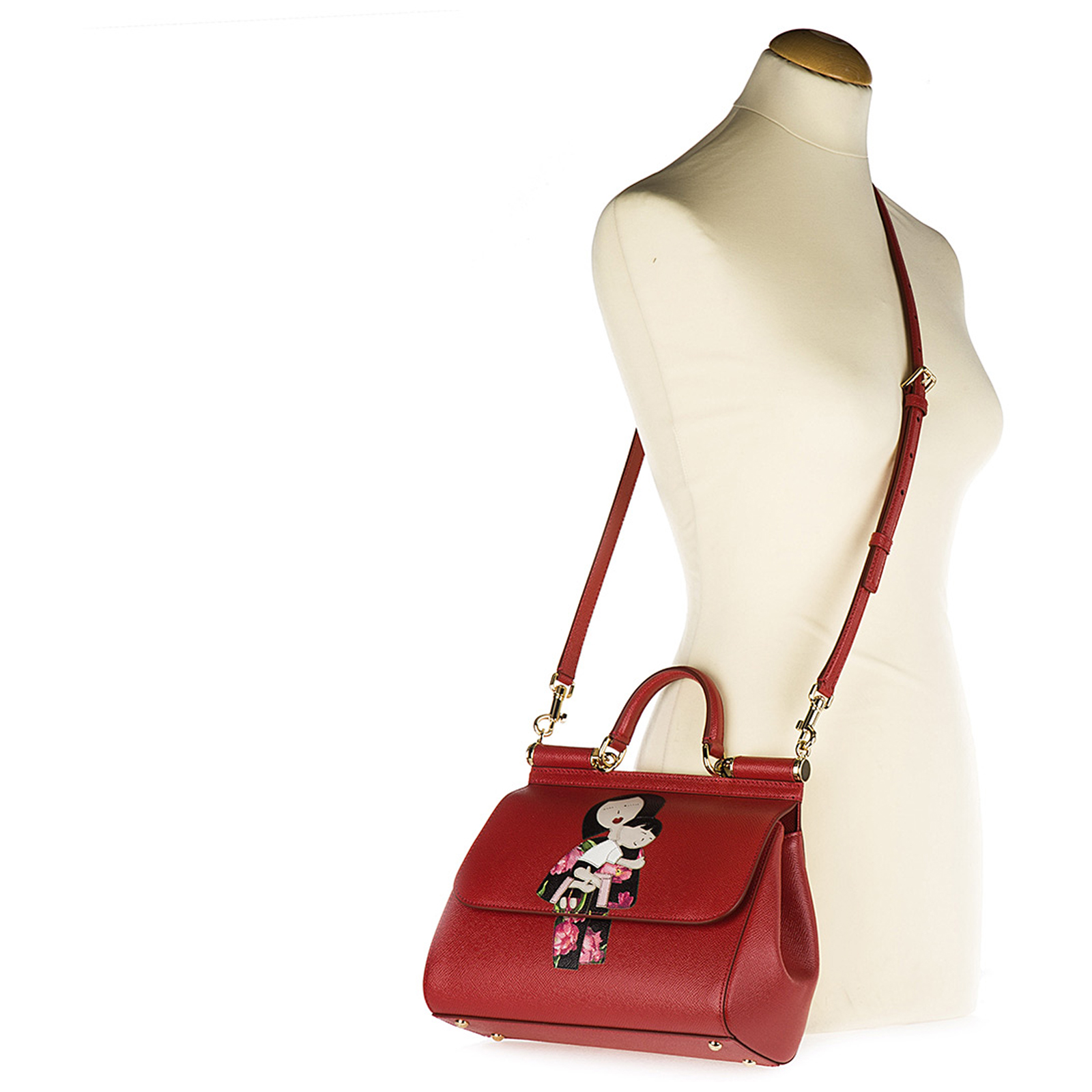 Borsa donna a mano shopping in pelle sicily dauphine patch
