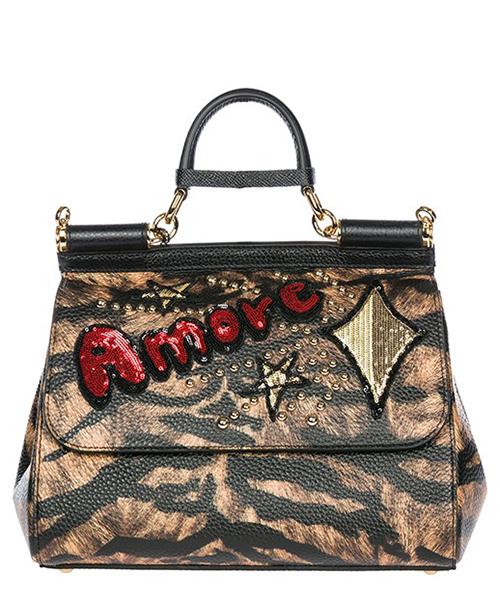 Bolsas de mano Dolce&Gabbana sicily BB6002AV319HKASM tigre