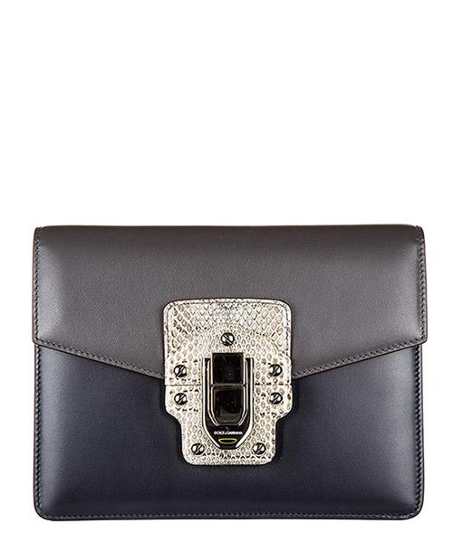 Sac porté épaule Dolce&Gabbana Lucia BB6310AB8948F745 asfalto - blu