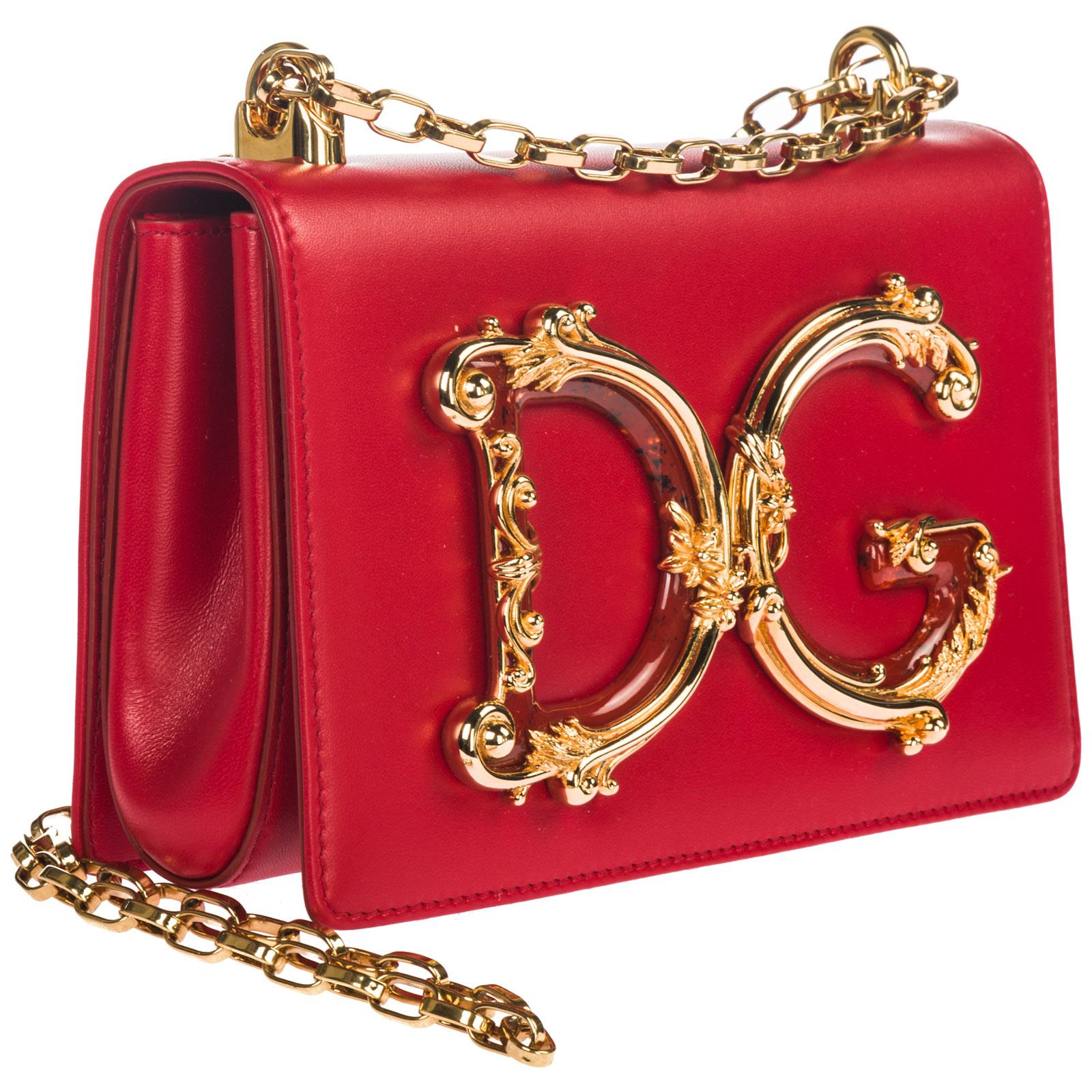 Women's leather shoulder bag dg girls