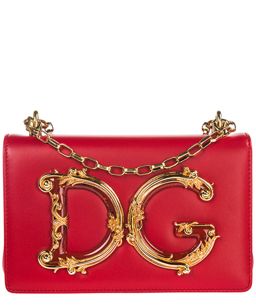 Shoulder bag Dolce&Gabbana DG Girls BB6498AZ80180316 rosso scuro
