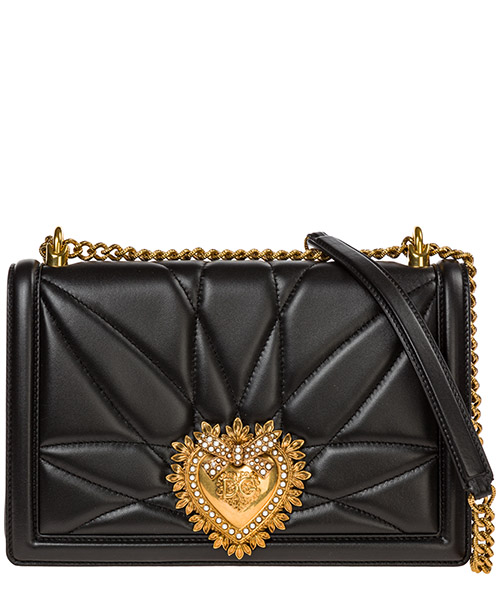 Borsa a tracolla Dolce&Gabbana devotion bag bb6651av96780999 nero