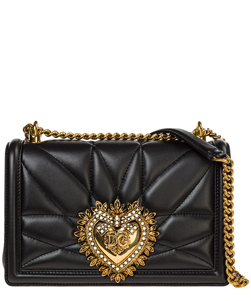Borsa a tracolla Dolce&Gabbana devotion bag bb6652av96780999 nero