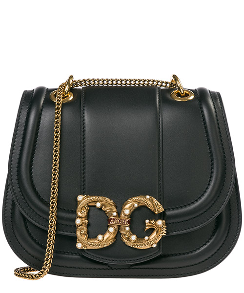 Women's leather shoulder bag dg amore