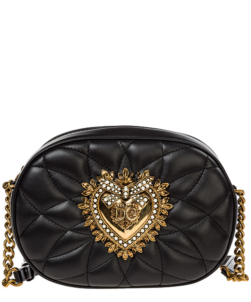 Borsa a tracolla Dolce&Gabbana devotion bag bb6704av96780999 nero