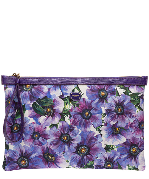 Clutch Dolce&Gabbana bi1184ax160ha1ao anemoni fondo bianco