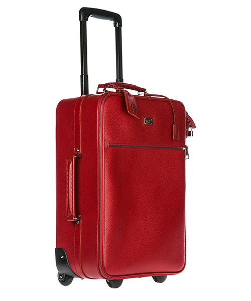 Trolley men's leather suitcase luggage secondary image