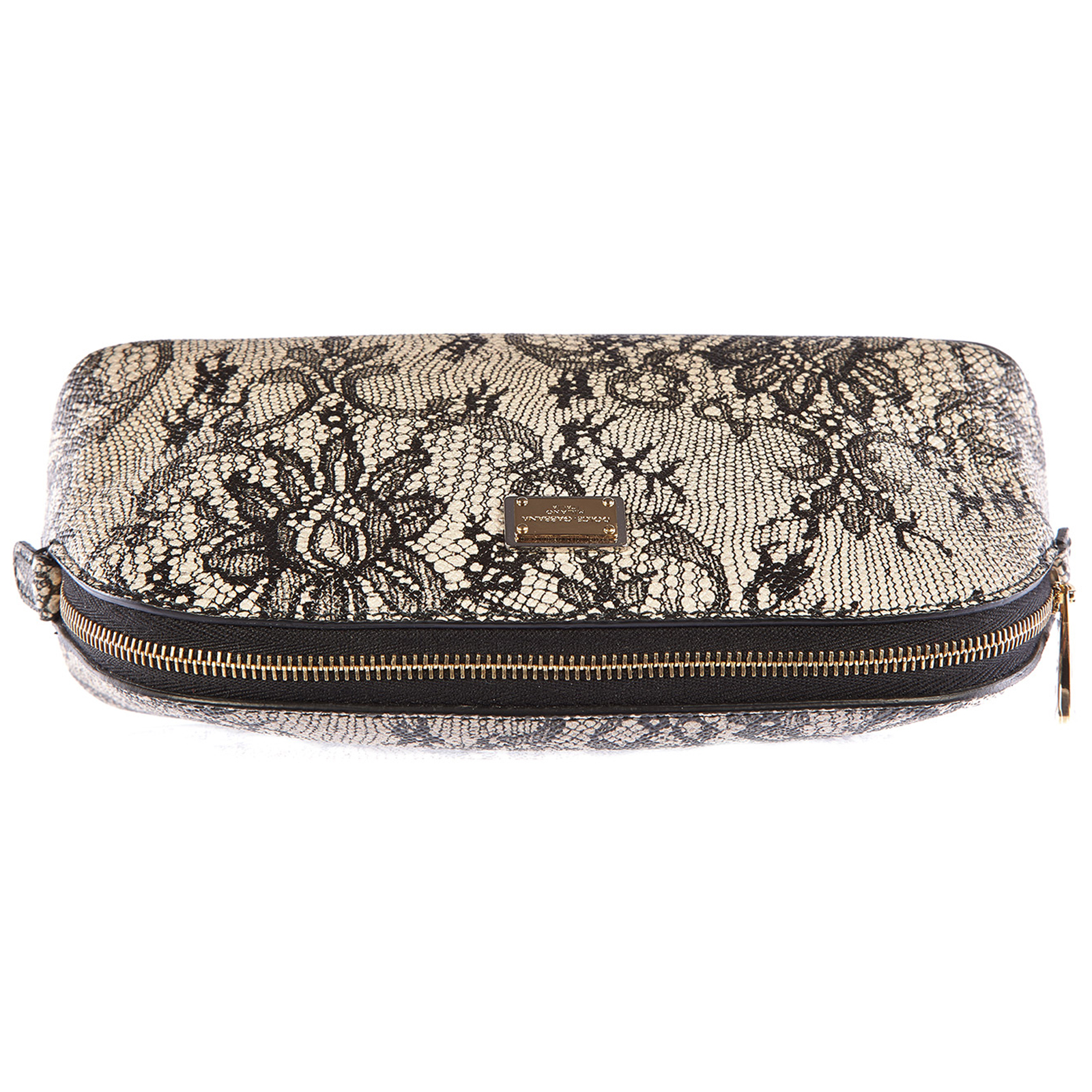 Women's travel makeup beauty case in leather dauphine