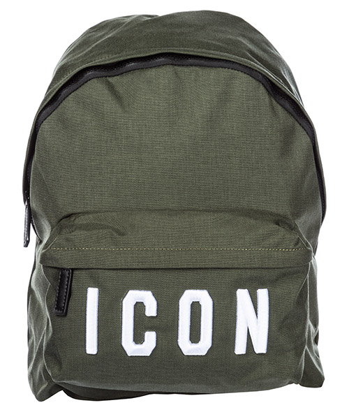 Rucksack Dsquared2 Icon BPM000411700396M399 verde + bianco