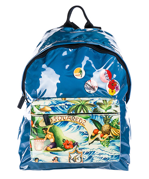 Rucksack Dsquared2 Hawaiian Rocker Hawaii Island BPM0004168005343084 azzurro