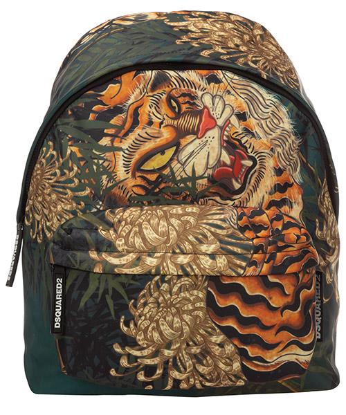 Backpack Dsquared2 tiger BPM001611702860M037 verde