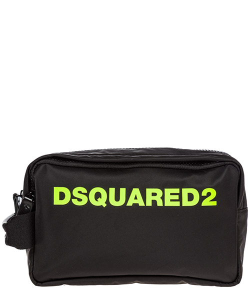Beauty case Dsquared2 bym000911702174m778 nero giallo fluo