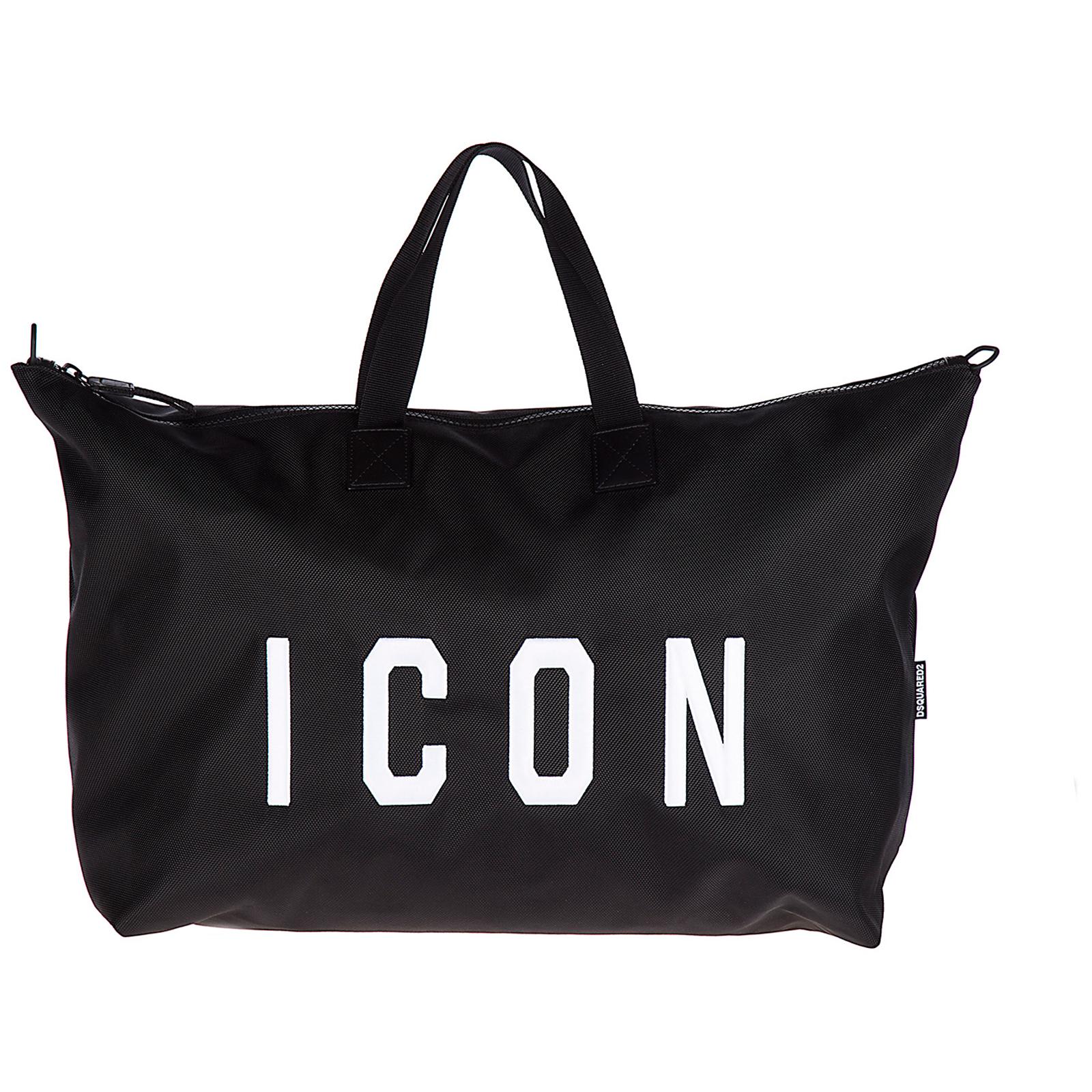Borsone viaggio borsa tracolla weekend in nylon icon
