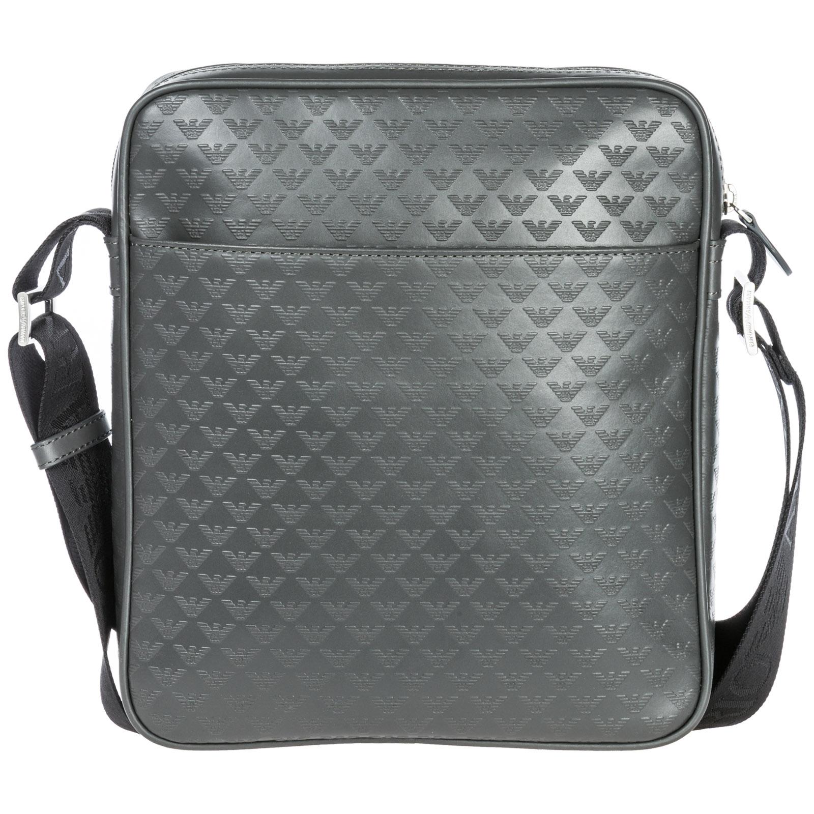Men's leather cross-body messenger shoulder bag