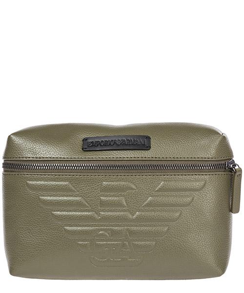 Men's leather belt bum bag hip pouch