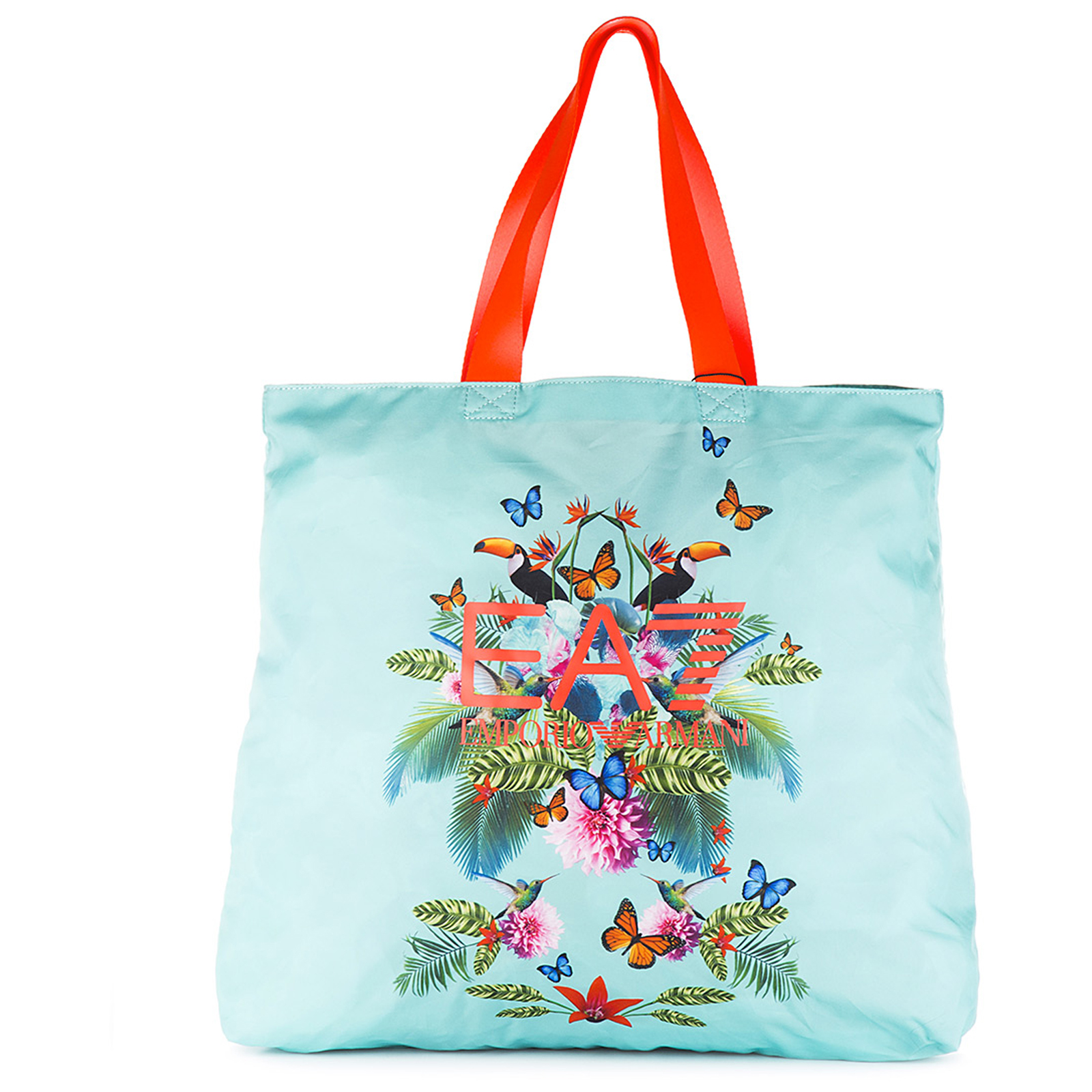 Borsa donna a mano shopping in nylon beach printed