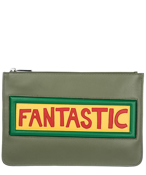 Porte document Fendi Vocabulary 7N0078A0FWF098W verde