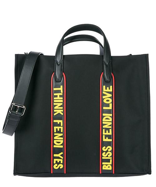 Shopping bag Fendi 7VA390AO1OF100I nero