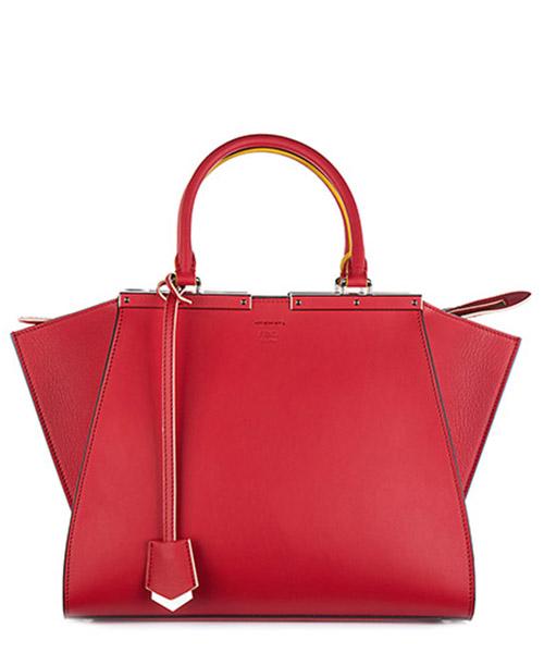 Handbag Fendi 8BH279 81D F0Y77 fiamma + palladio