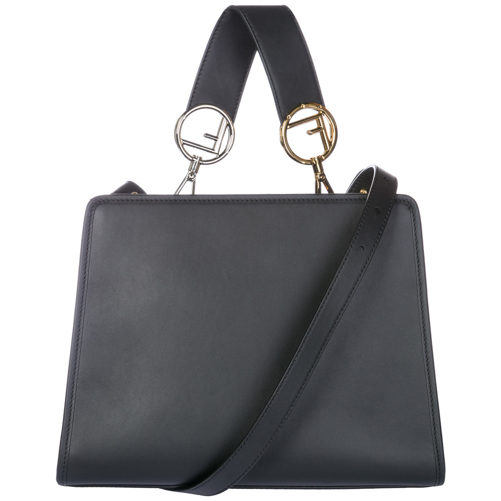 Fendi Women s handbag shopping bag purse tote in pelle runaway small 0cdad013c0