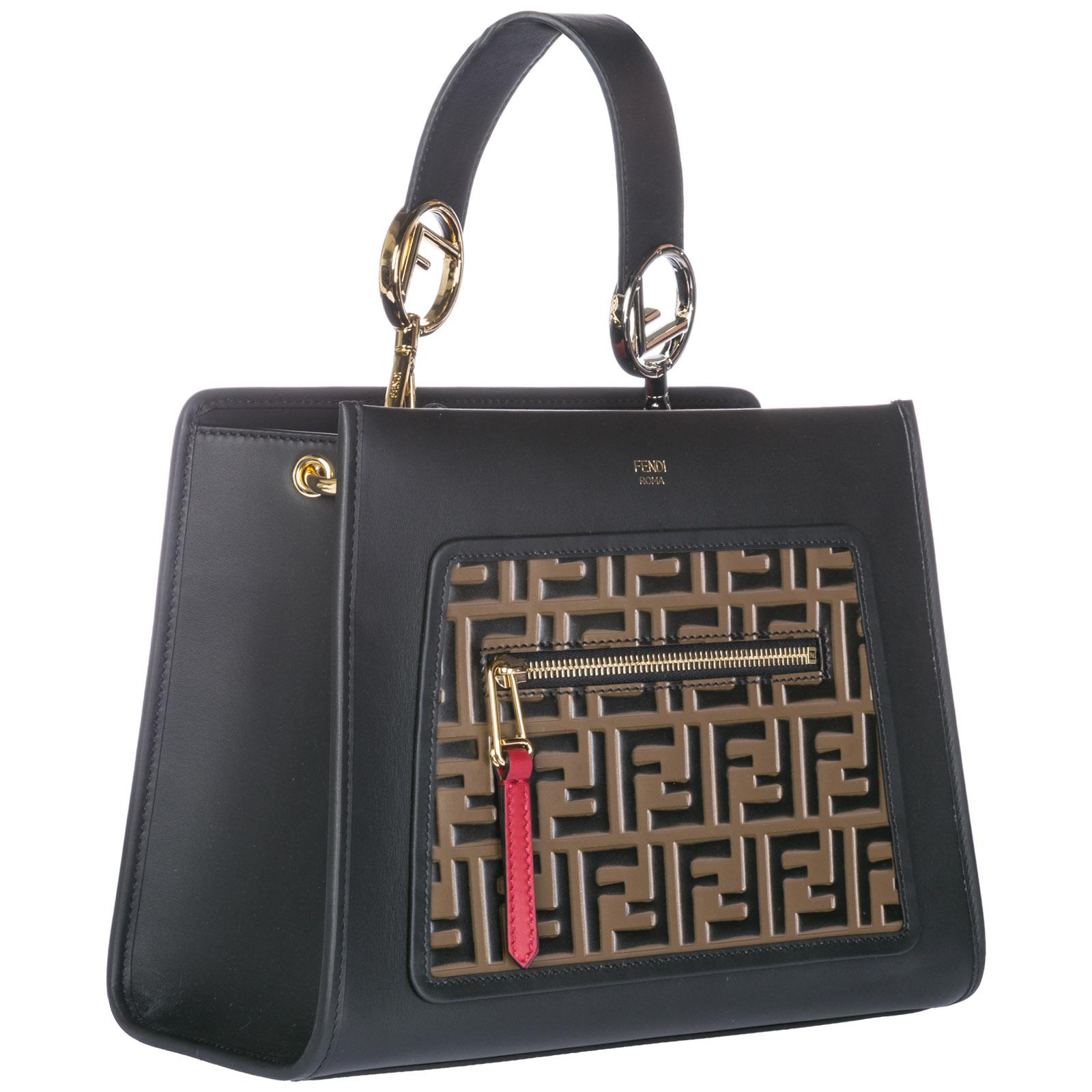 Fendi Women s handbag shopping bag purse tote in pelle runaway small 57d85a3f5609c