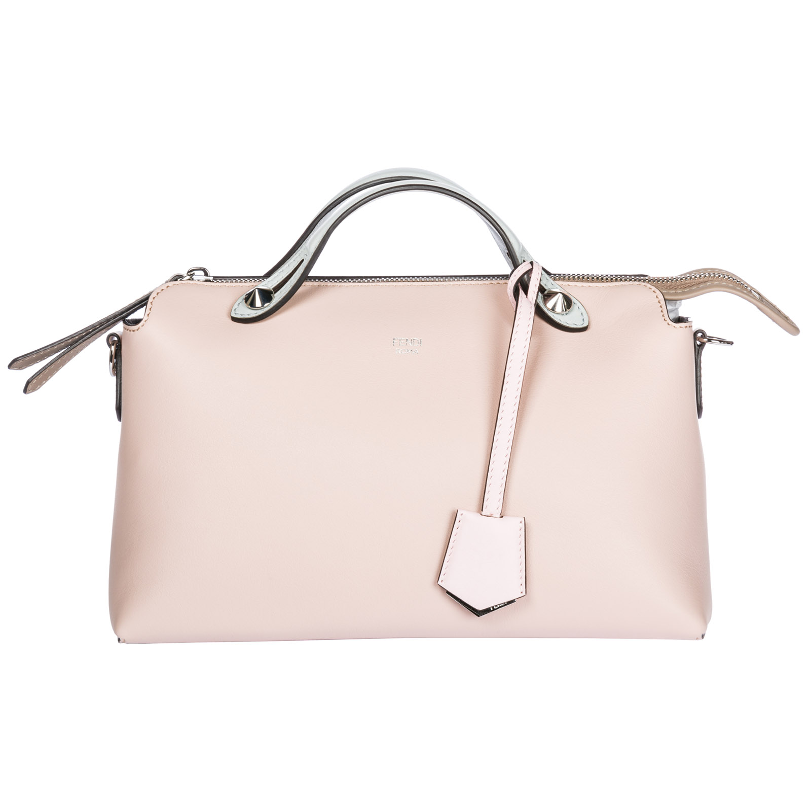 770958b8f4c9 Fendi Women S Leather Handbag Barrel Bag Purse By The Way Regular In Pink