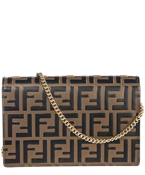Pochette donna in pelle con tracolla  wallet on chain secondary image