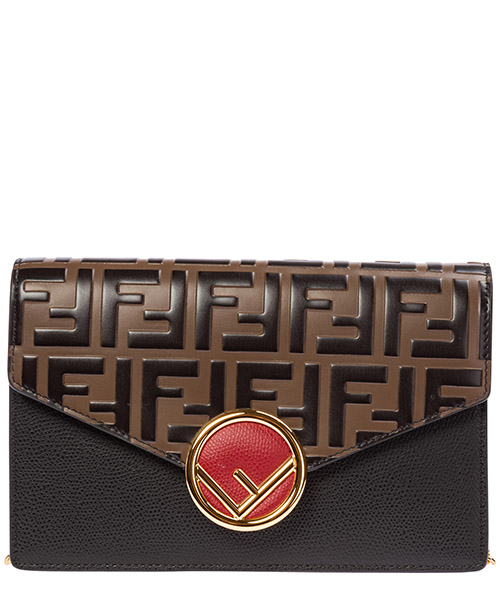 Sac bandoulière Fendi wallet on chain 8bs006a6caf13wb nero