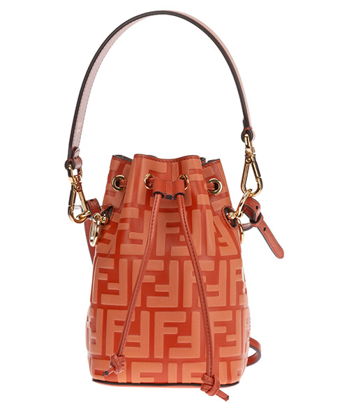 Bucket bag Fendi mon tresor 8BS010AD6DF1C6H arancione