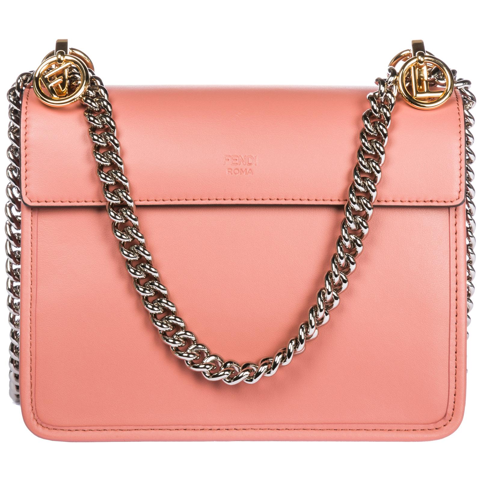 d398edad4720 ... Women s leather shoulder bag kan i piccola logo ...