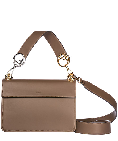 Women's leather shoulder bag kan i logo secondary image