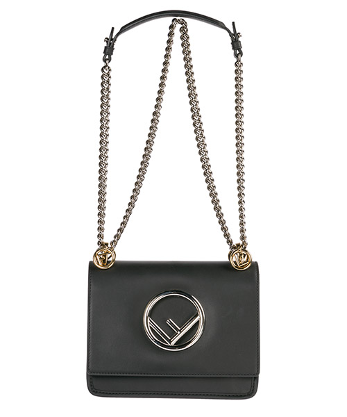 Women's leather shoulder bag kan i logo piccola secondary image