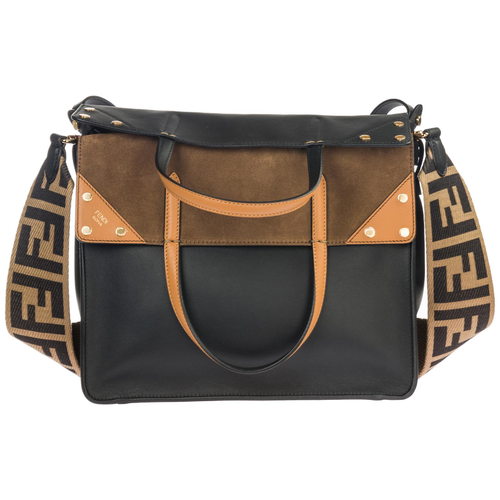 Fendi Women s handbag shopping bag purse tote in pelle flip large 926324485e