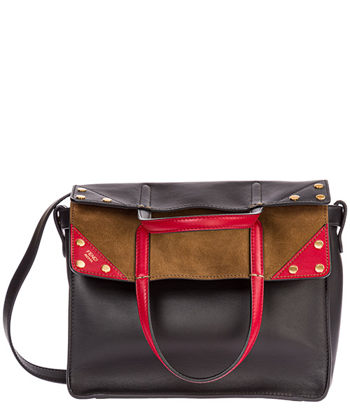 Women's leather shoulder bag flip medium