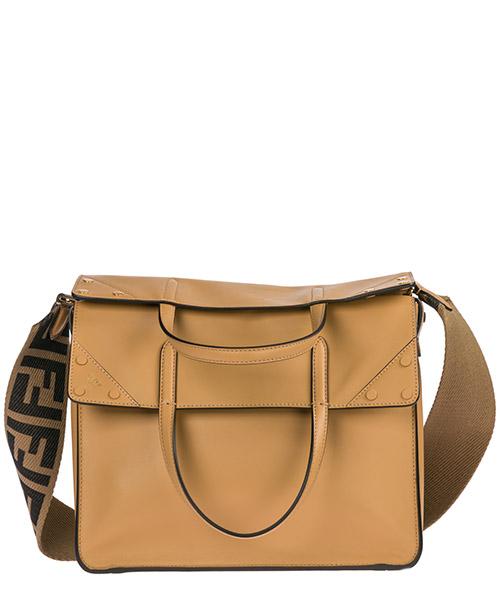 Women's leather handbag shopping bag purse flip