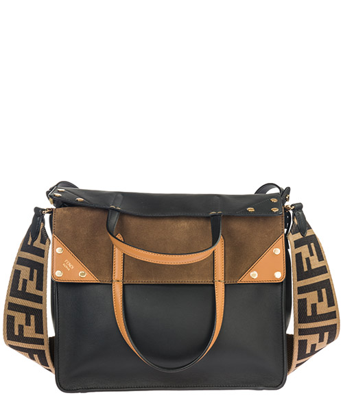 Borsa a mano Fendi Flip Large 8BT303A6CGF15WC nero